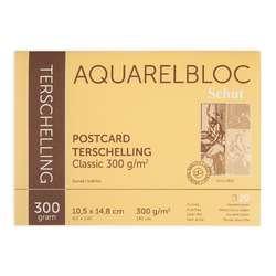 Schut Terschelling Classic Aquarellpapier, Postkartenblock