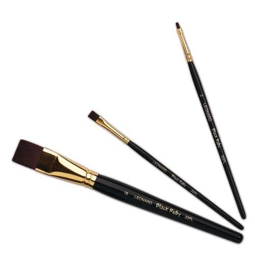 Léonard Serie 30PL Black Ruby Flachpinsel