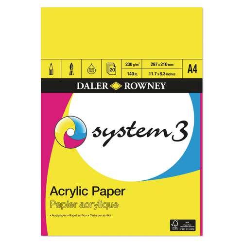 DALER-ROWNEY System3 Acrylmalblock