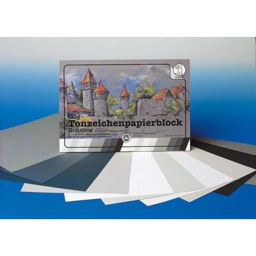 URSUS® Tonzeichenpapier-Block Grautöne