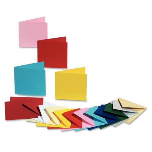 folia® Doppelkarten, quadratisch