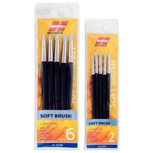 HONSELL Soft Brush Sets Gummipinsel