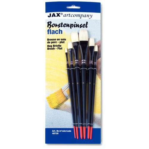 JAX® artcompany Borstenpinsel-Set, flach