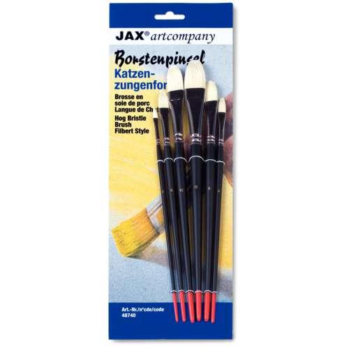JAX® artcompany Borstenpinsel-Set, Katzenzunge