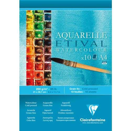 Clairefontaine ETIVAL Aquarellblock 200 g, feinkörnig