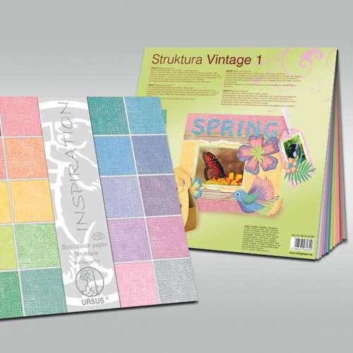 "URSUS® Struktura ""Vintage 1 und 2"" Scrapbook paper, Sortiment"