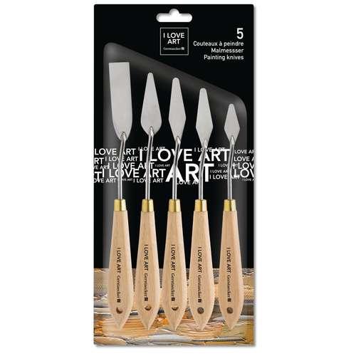 I LOVE ART Malmesser-Set