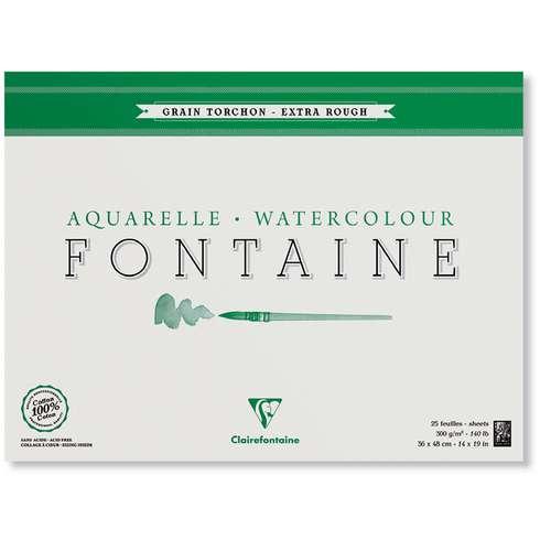 Clairefontaine FONTAINE Aquarellblock Grobkorn
