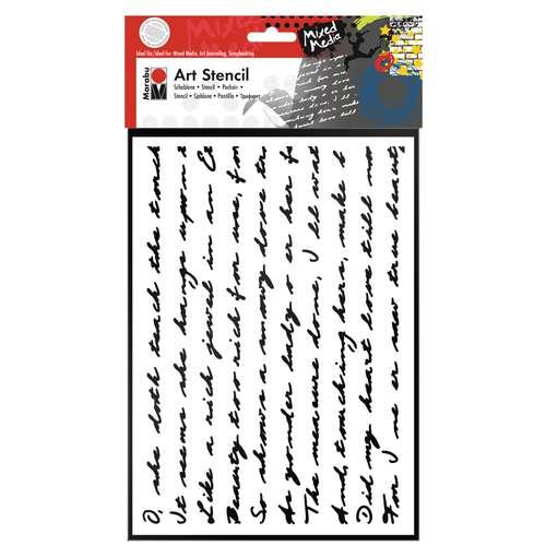 Marabu Art Stencil Script