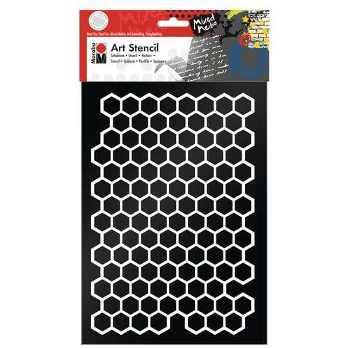 Marabu Art Stencil Honeycomb