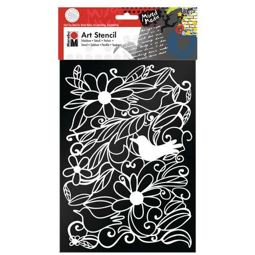 Marabu Art Stencil Blooming Garden