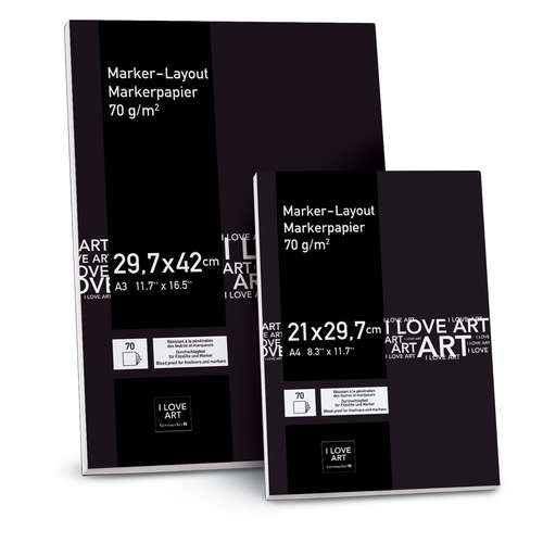 I LOVE ART Marker-Layout-Block