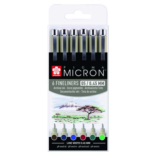 SAKURA PIGMA MICRON™ Fineliner 6er-Sets