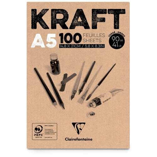 CLAIREFONTAINE Kraftpapier-Block