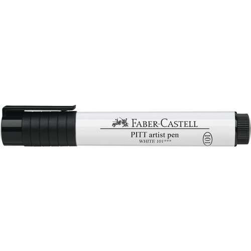 FABER-CASTELL Pitt® artist pen Tuschestift, weiß
