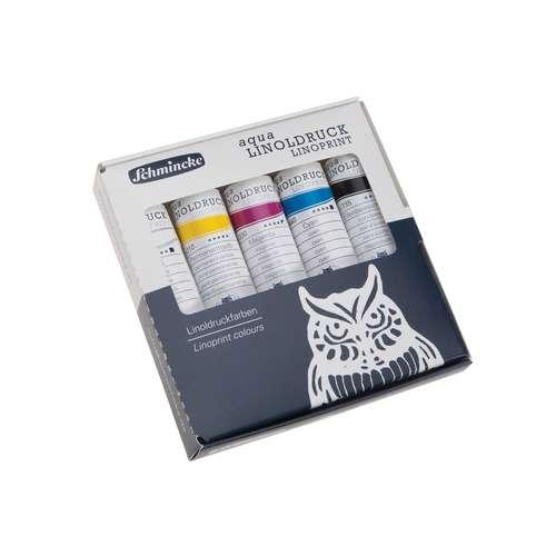 SCHMINCKE Aqua Linoldruckfarben, Set