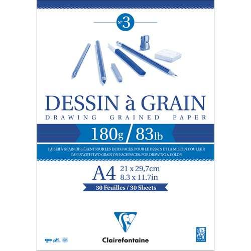 """CLAIREFONTAINE """"Dessin à Grain"""" Zeichenblock"""