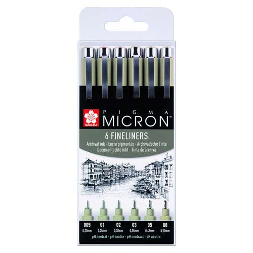 SAKURA PIGMA MICRON™ Fineliner-Sets