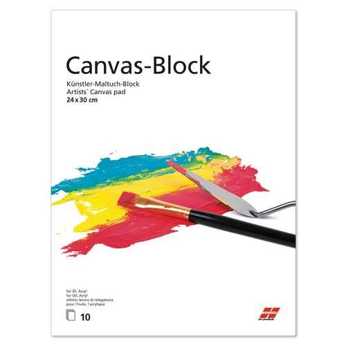 """HONSELL Künstler-Maltuch-Block """"Canvas"""""""