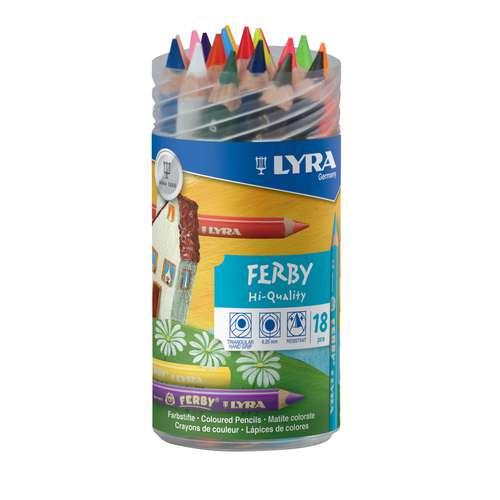 LYRA Dreikant-Farbstift FERBY 18er Etui