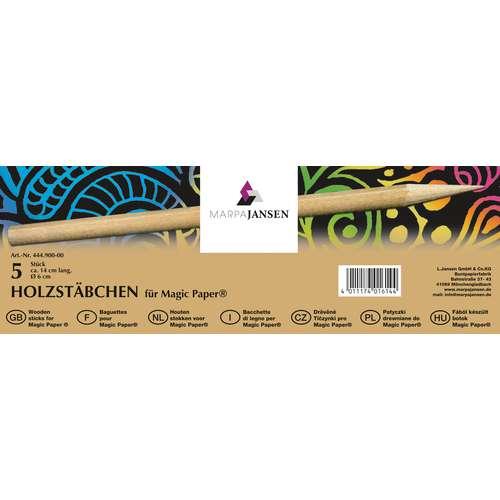 Holzstäbchen für Magic Paper® - Kratzpapier