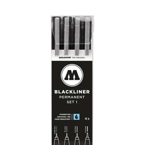 MOLOTOW™ BLACKLINER PERMANENT 4er Sets