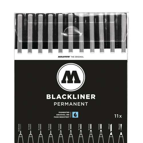 MOLOTOW™ BLACKLINER PERMANENT Complete Set