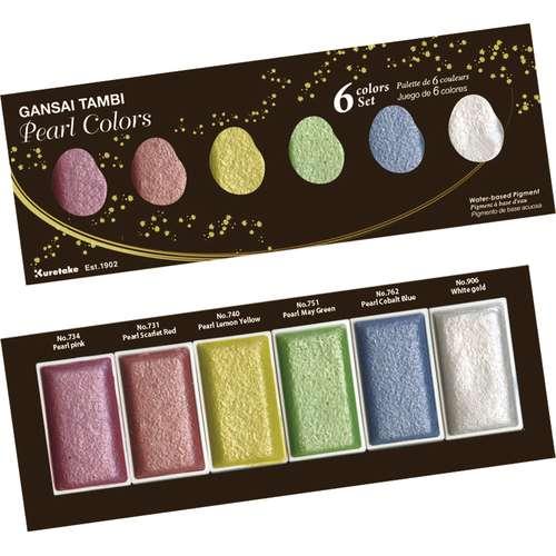 """Kuretake Gansai Tambi """"Pearl Colors"""" Aquarellfarben-Set"""