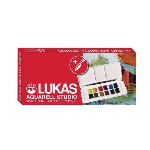 LUKAS AQUARELL STUDIO Aquarellfarbe Pocket Box