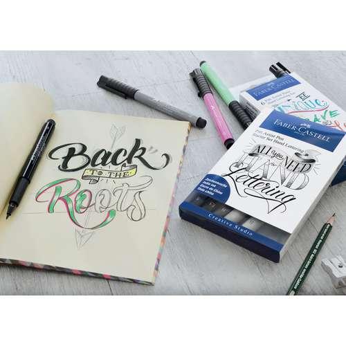 FABER-CASTELL PITT Artist Hand Lettering Tuschestift Set, Grautöne