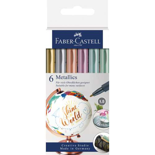 FABER-CASTELL Metallics Marker Sets