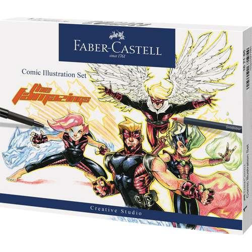 FABER-CASTELL Comic Illustration Set, 15-teilig