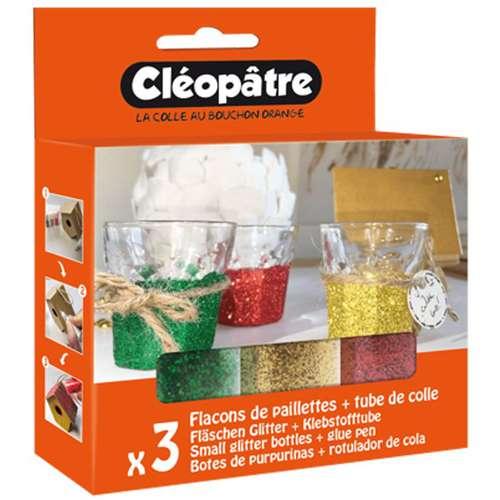 CLÉOPÂTRE Neon-Pailletten Sets