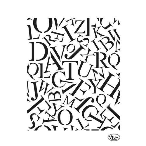 VIVA DECOR Universal-Schablone, Buchstaben Allover