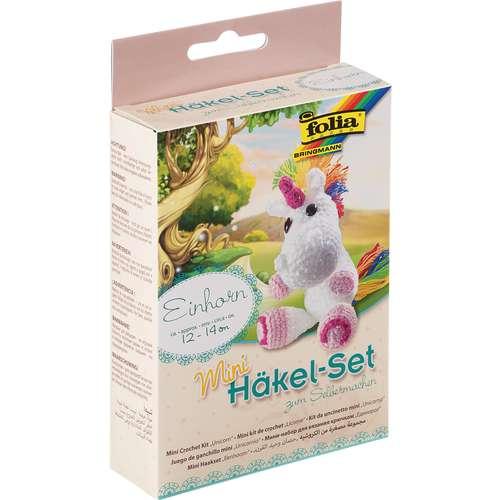 folia® Mini-Häkel-Set, Einhorn