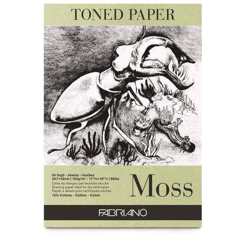 FABRIANO® Toned Paper Zeichenblock, Moss