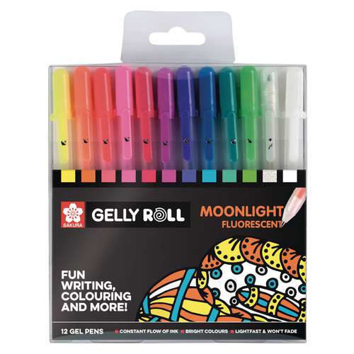 SAKURA Gelly Roll Moonlight 10, 12-teiliges Set