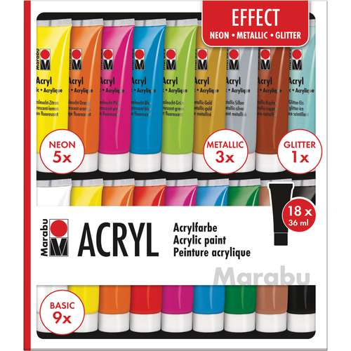 MARABU Acrylfarben Set EFFECT