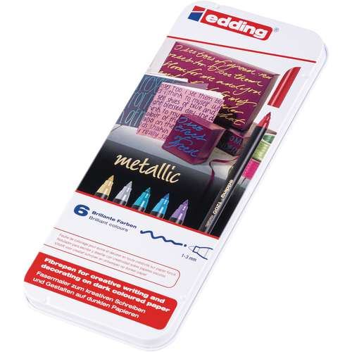 edding® 1200 metallic Fasermaler-Set