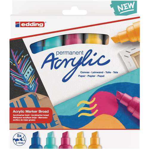 edding® 5000 Acrylmarker 5er-Sets