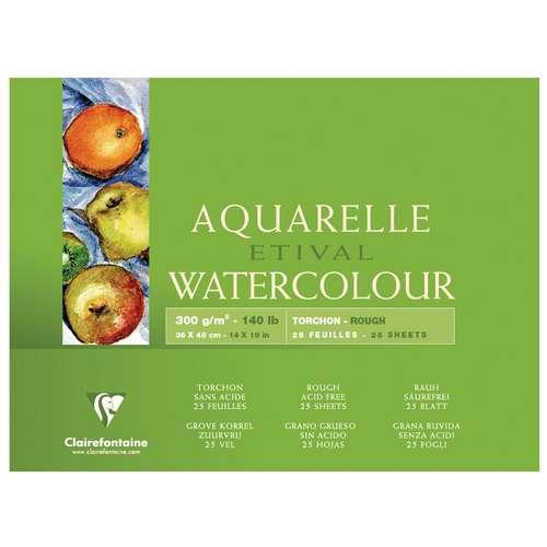Clairefontaine ETIVAL Aquarellblock, Rau