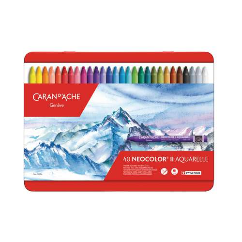 CARAN D'ACHE NEOCOLOR® II  wasservermalbare Wachspastellstifte-Sets